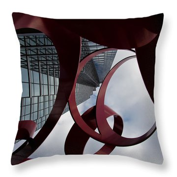 Up II Throw Pillow by Mark Alder