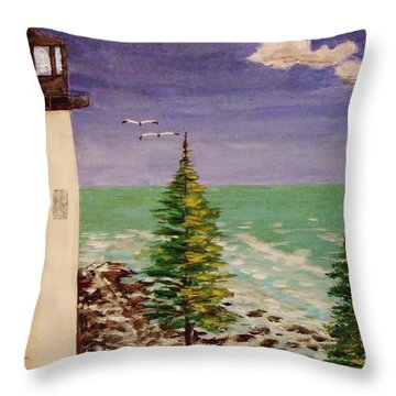Up In Old Maine Throw Pillow