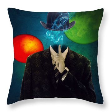 Up In Smoke Throw Pillow
