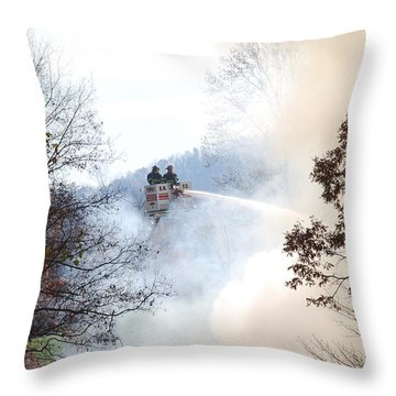 Up In Smoke Throw Pillow by Eric Liller