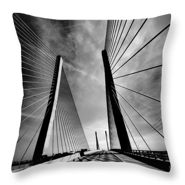 Throw Pillow featuring the photograph Up N Over by Robert McCubbin