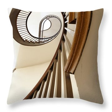 Up Stairs Throw Pillow by Alexey Stiop