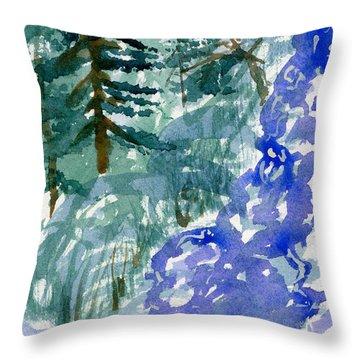 Up The Creek Throw Pillow