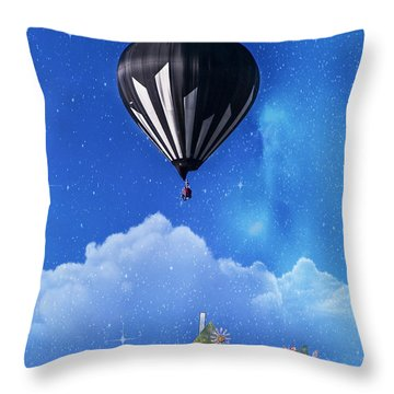 Up Through The Atmosphere Throw Pillow by Juli Scalzi