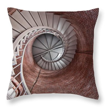 Up Through The Spiral Staircase Throw Pillow by K Hines