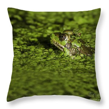 Up To My Neck Throw Pillow