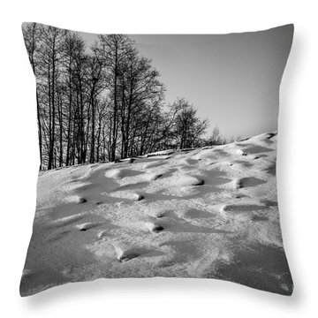 Up To The Hill Bw Throw Pillow