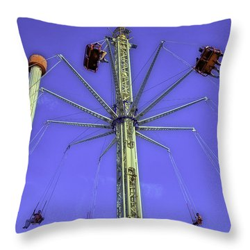 Up Up And Away 2013 - Coney Island - Brooklyn - New York Throw Pillow by Madeline Ellis