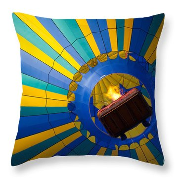 Up Up And Away Throw Pillow by Inge Johnsson