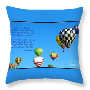 Up Up And Away Poetry Photography Throw Pillow