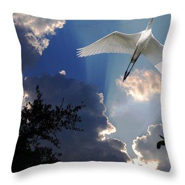 Up Up And Away Throw Pillow