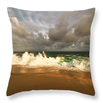 Throw Pillow featuring the photograph Upcoming Tropical Storm by Eti Reid