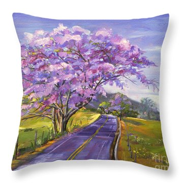 Upcountry In Bloom Throw Pillow by Jennifer Beaudet
