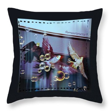 Updraft The Trio Flying Throw Pillow