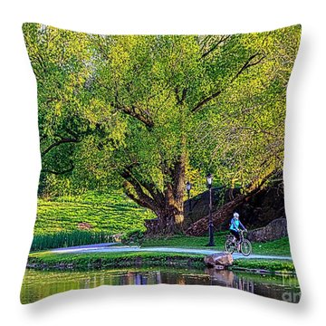 Uphill All The Way Throw Pillow