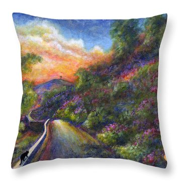 Uphill Throw Pillow by Retta Stephenson