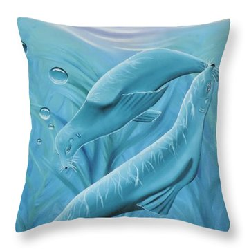 Throw Pillow featuring the painting Uphoria by Dianna Lewis
