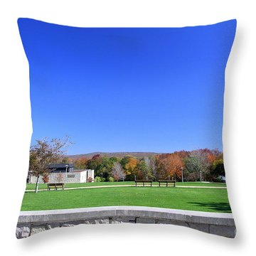 Upj Campus Throw Pillow