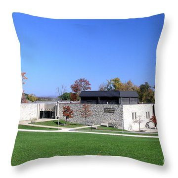 Upj Engineering Hall Throw Pillow