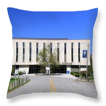 Upj Library Throw Pillow
