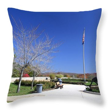 Upj Plaza Throw Pillow