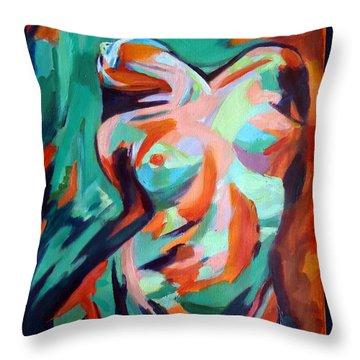 Uplift Throw Pillow by Helena Wierzbicki