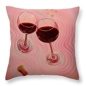 Throw Pillow featuring the painting Uplifting Spirits II by Sandi Whetzel