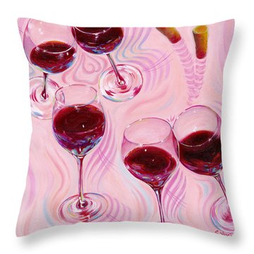 Throw Pillow featuring the painting Uplifting Spirits  by Sandi Whetzel