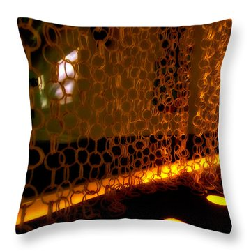Uplight The Chains Throw Pillow by Melinda Ledsome