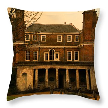 Uppark House Throw Pillow by Tracey Beer
