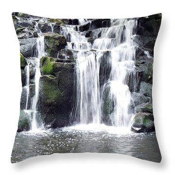 Throw Pillow featuring the photograph Upper Beaver Falls by Chalet Roome-Rigdon