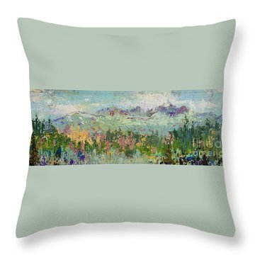 Highland Color Throw Pillow by Margaret Bobb