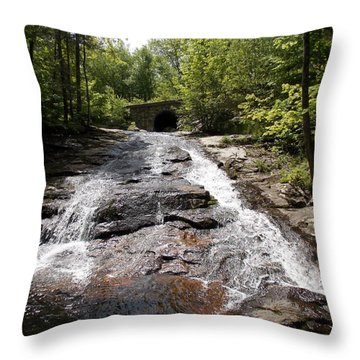 Upper Chapel Brook Falls Throw Pillow