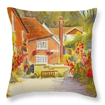 Upper Church Hill Hythe Throw Pillow