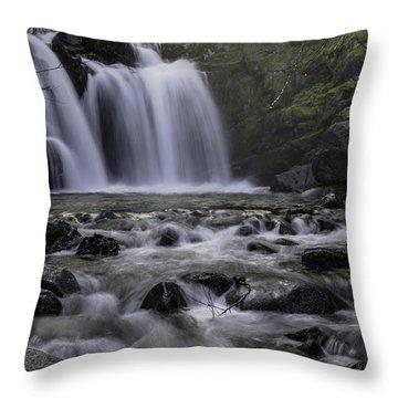 Upper Crystal Creek Falls  Throw Pillow