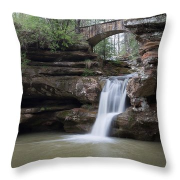 Upper Falls At Old Mans Cave II Throw Pillow