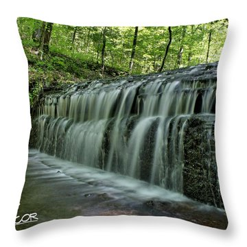 Upper Falls At Stillhouse Hollow Throw Pillow