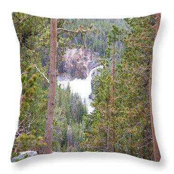 Upper Falls Throw Pillow