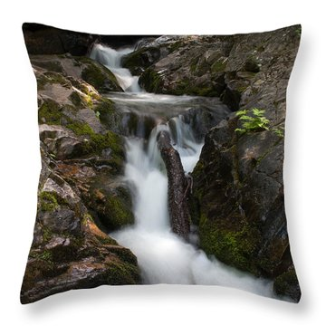Upper Pup Creek Falls Throw Pillow
