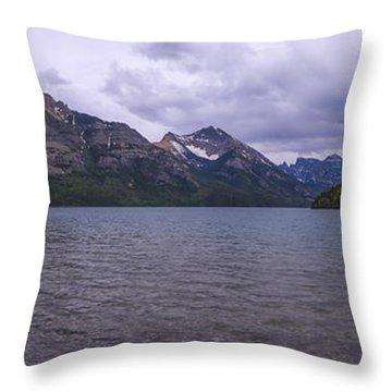 Upper Waterton Lake Throw Pillow by Chad Dutson