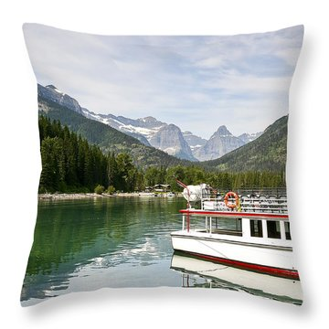 Upper Waterton Lakes Throw Pillow by Teresa Zieba