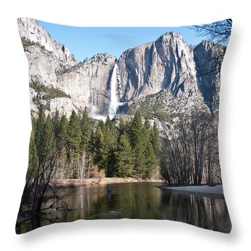 Throw Pillow featuring the photograph Upper Yosemite Fall by Shane Kelly