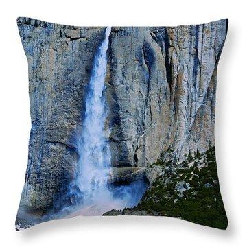 Upper Yosemite Falls Throw Pillow by Eric Tressler