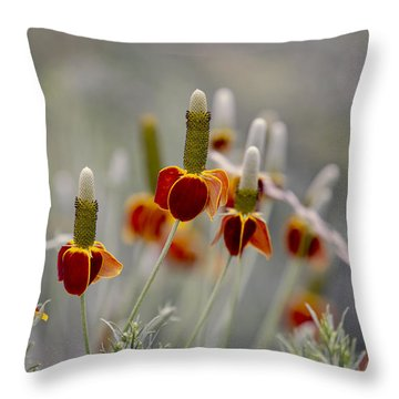 Upright Prairie Coneflowers Throw Pillow