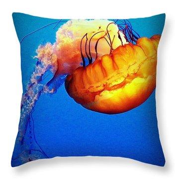 Upside Down Jelly Throw Pillow by Faith Williams