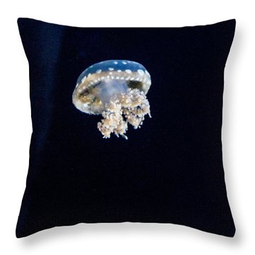 Upside Down Jellyfish 2 Throw Pillow