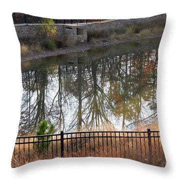 Throw Pillow featuring the photograph Upside Down by Pete Trenholm