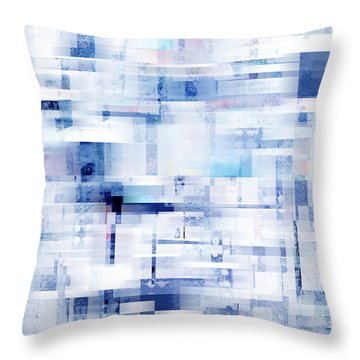 Uptown Blues On Square -abstract -art Throw Pillow
