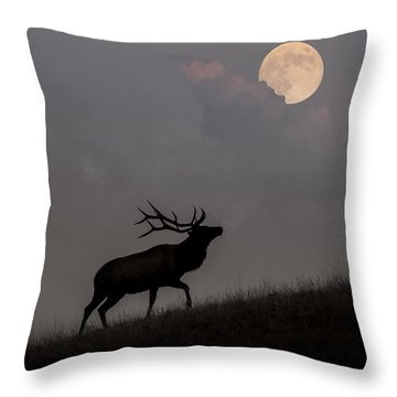 Upwardly Mobile - Yellowstone National Park Throw Pillow by Sandra Bronstein