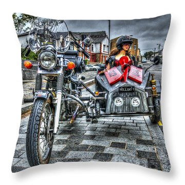 Ural Wolf 750 And Sidecar Throw Pillow by Steve Purnell